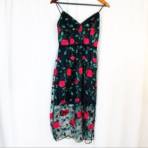 Socialite Mirella Floral Sheer Dress